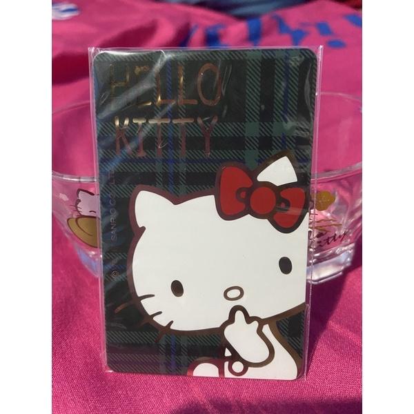 《裸卡》Hello Kitty悠遊卡 綠格紋