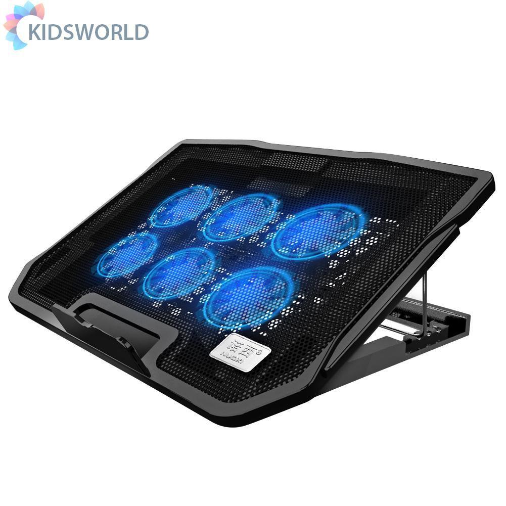 Kidsworld Nuoxi H9 筆記本電腦散熱墊雙 USB 端口散熱器可調靜音散熱器