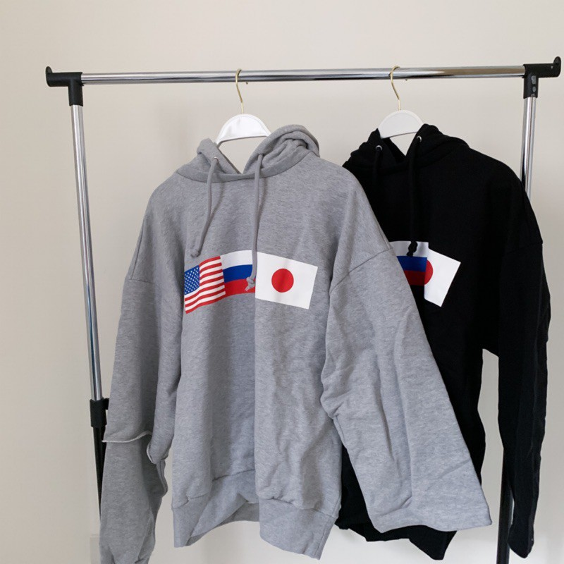下殺 gosha rubchinskiy Flag Hooded Sweatshirt 帽t