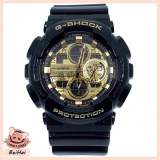 CASIO 卡西歐 G-SHOCK 男款 防水 運動 時尚手錶 人氣黑金 機械風錶盤設計金色錶 GA-140GB-1A1 桃園市