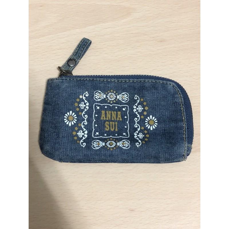 ANNA SUI 牛仔錢包 零錢包 卡片包 鑰匙包 丹寧 安娜蘇