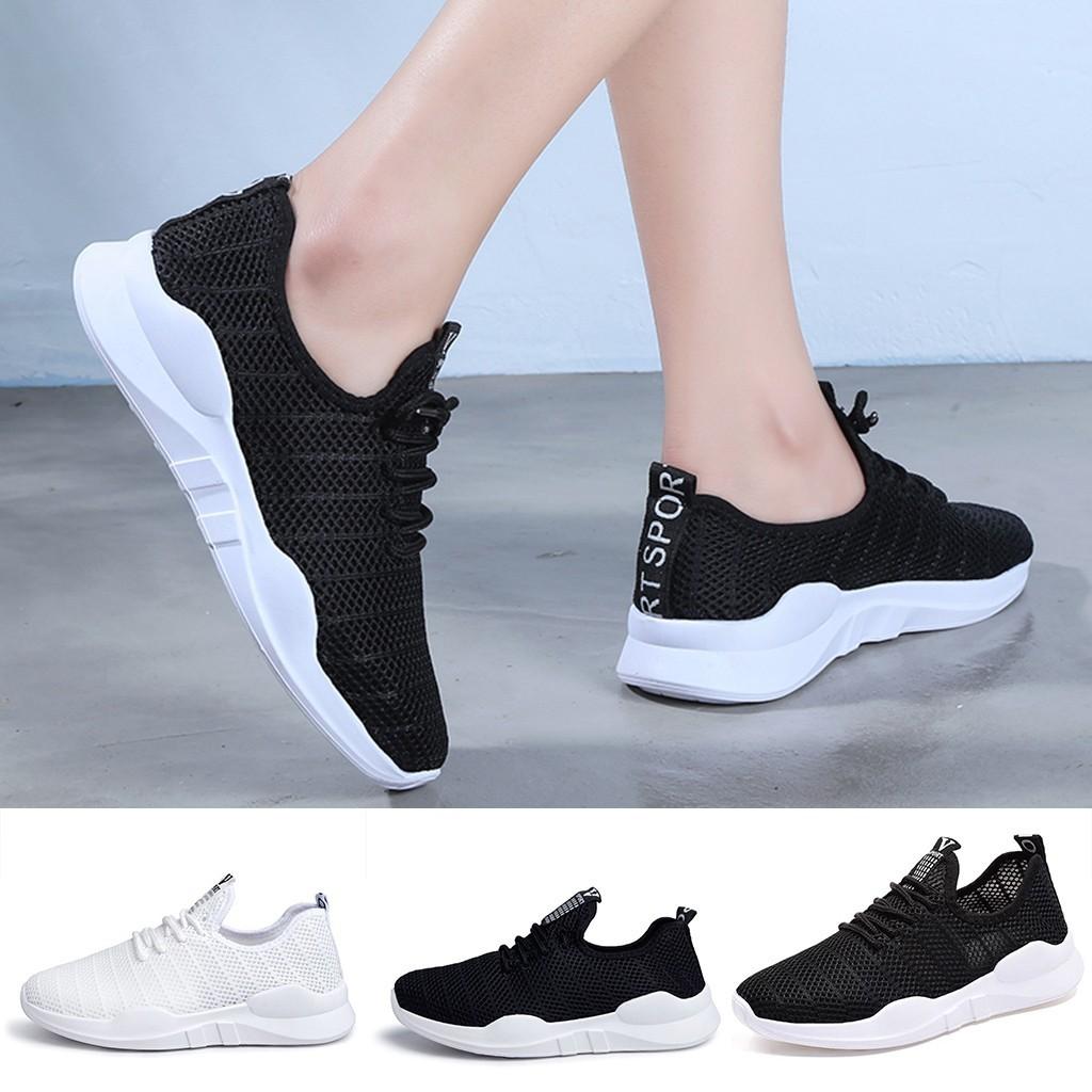 ✿harmonymall❀女士女士休閒防滑運動步行運動鞋跑步軟鞋