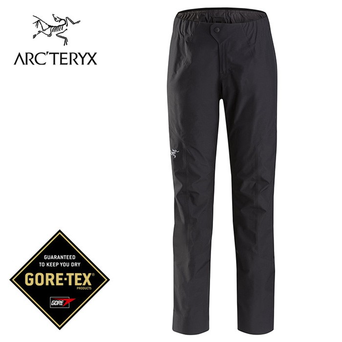 【ARCTERYX 始祖鳥 加拿大】ZETA SL 防水登山褲 GORE-TEX 女款 黑色 (L07130500)