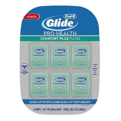 代購costco  歐樂B Oral-B Glide 清潔舒適牙線 - 薄荷口味 40 公尺 6 入#1203155