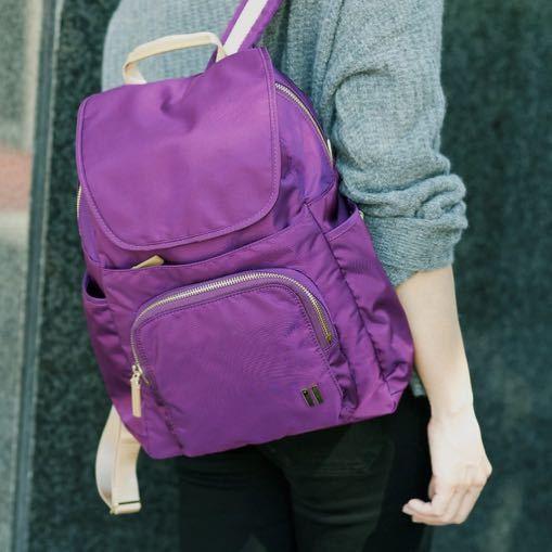 ☆美國SUMDEX☆人體工學設計 高級後背包 網路最低價 經典 商務 後背包 都會 時尚 平板 筆電包 765PU 紫色