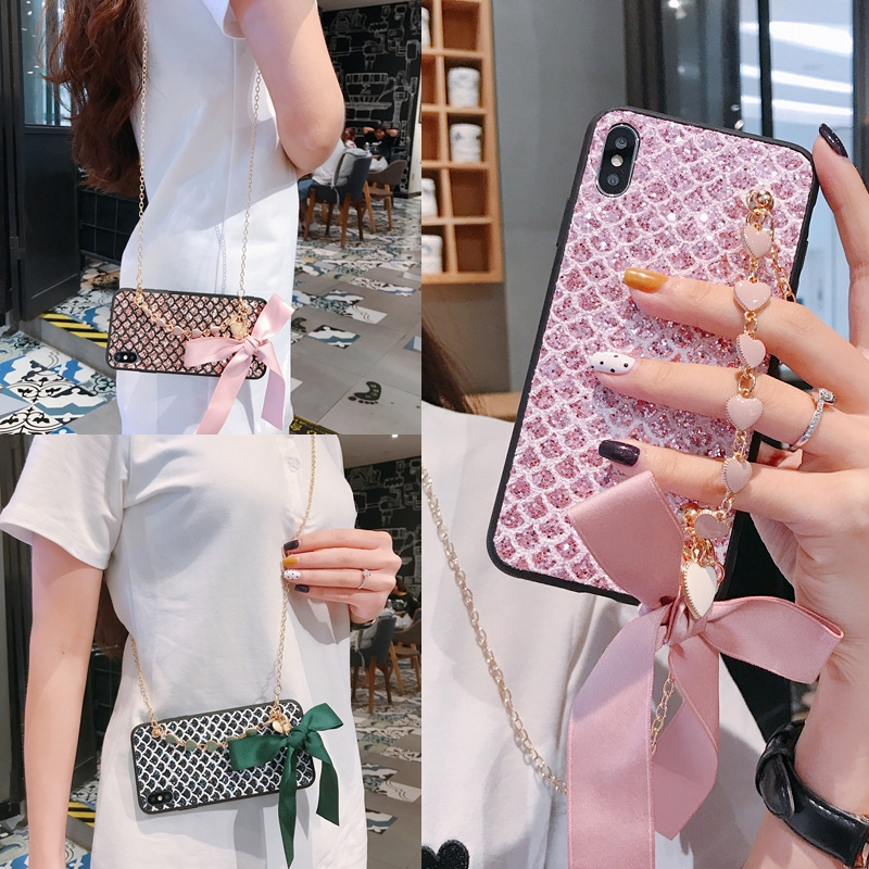 Love Bow Case三星Galaxy A10 A30 A50 S8 S9 S10Plus Note 9 10 J2
