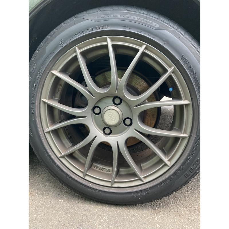ENKEI SC25  4*100 輪胎是米牌p4 跑不到1000公里