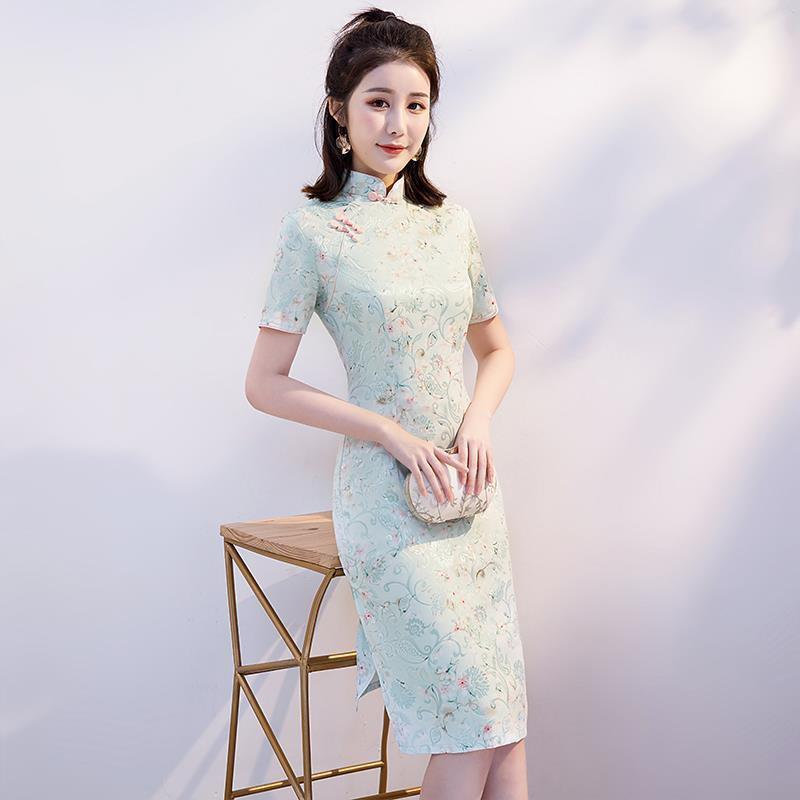 │8dxx8│少女旗袍2021年新款改良年輕款日常中國風連衣裙氣質優雅蝕骨時尚