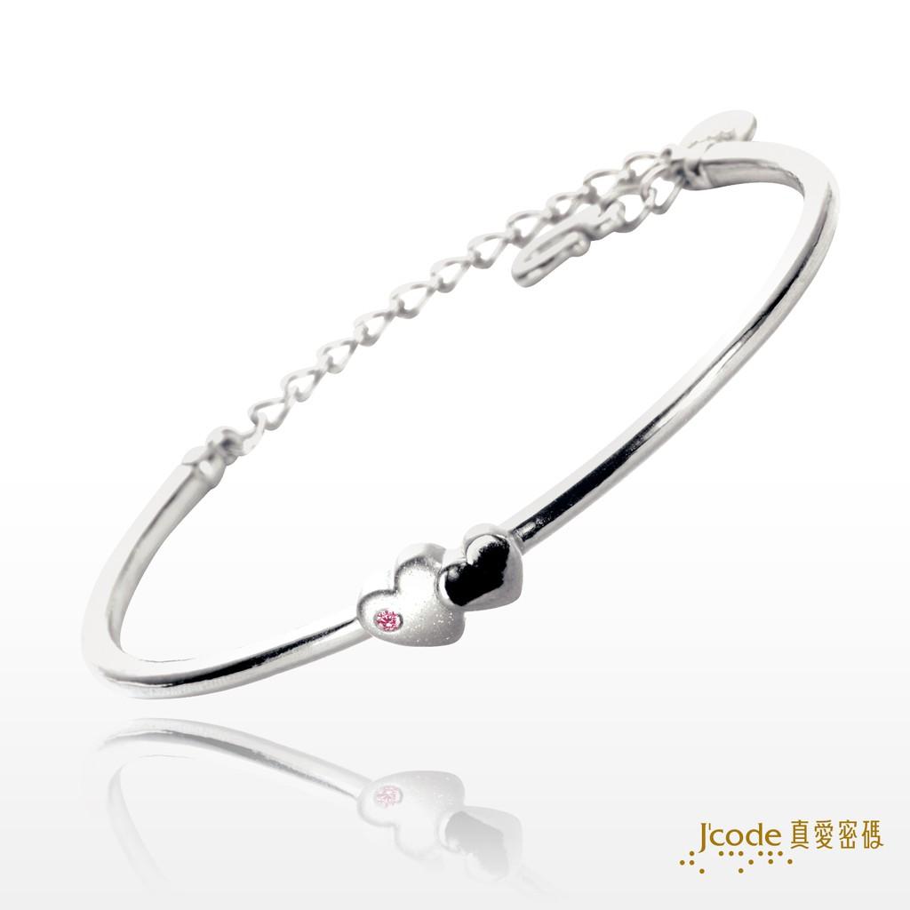 【J'code 真愛密碼】兩心相伴純銀手環