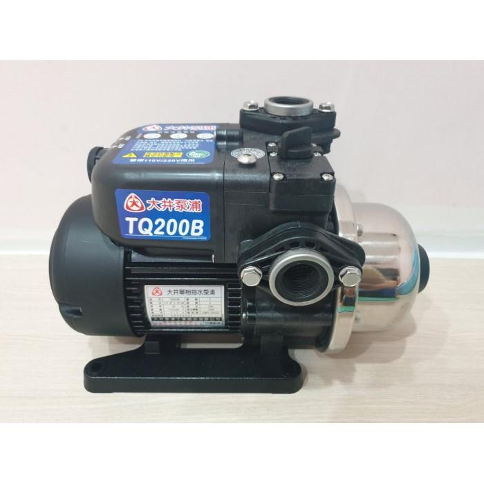 【優質五金】大井TQ200B 1/4HP電子穩壓加壓馬達*加壓機*低噪音 新款抗菌環保 非舊款TQ200
