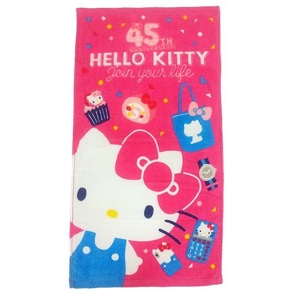 凱蒂貓45週年毛巾-桃紅【康是美】