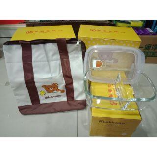 華南金 拉拉熊保溫袋+玻璃分隔保鮮盒 830ML 臺中市