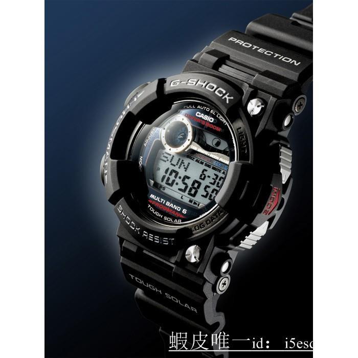 ㊣1000%正品全新現貨㊣CASIO卡西歐G-SHOCK 潛水用 電波錶 FROGMAN (蛙王)(日版) 黑 GWF-