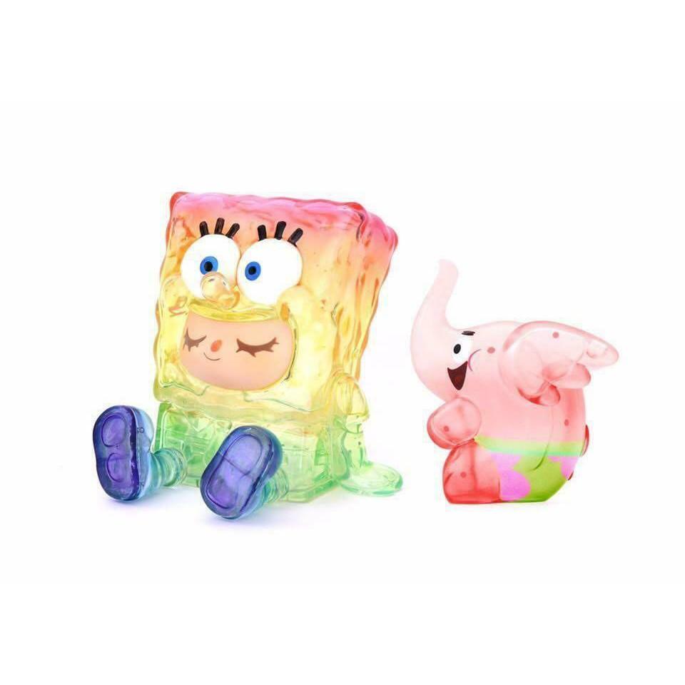UNBOX INDUSTRIES SPONGEBOB GREENIE & ELFIE 海綿寶寶 派大星 小象 彩虹透明