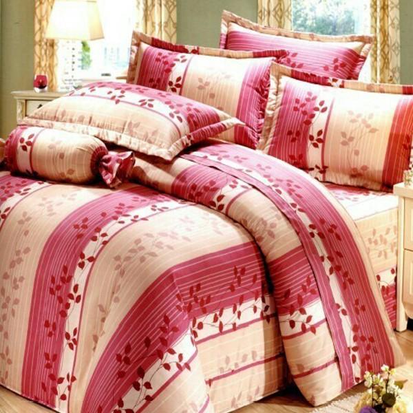 (婉約-粉) MIT台灣製作精梳棉 雙人薄床包三件組[艾拉寢飾][滿額免運]