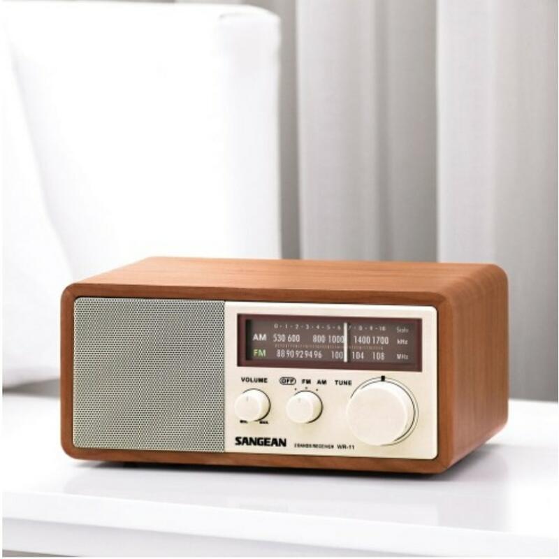 SANGEAN山進 二波段 復古收音機 (WR-11) 調頻/調幅 內藏FM天線 DC12V/1A -【便利網】