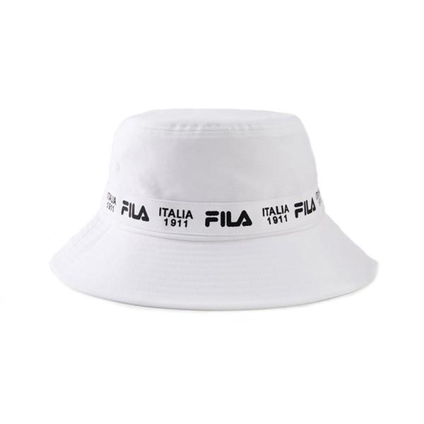 FILA 漁夫帽 1911 遮陽 串字LOGO 簡約 白色 【HTV-1204-WT】