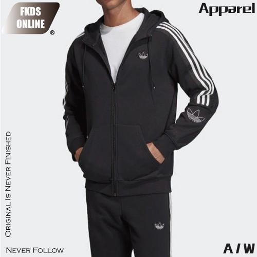 ADIDAS 愛迪達 三葉草系列 灰白 經典肩三線 風衣外套 防風外套 休閒外套 運動外套 連帽外套 外套 ED4693