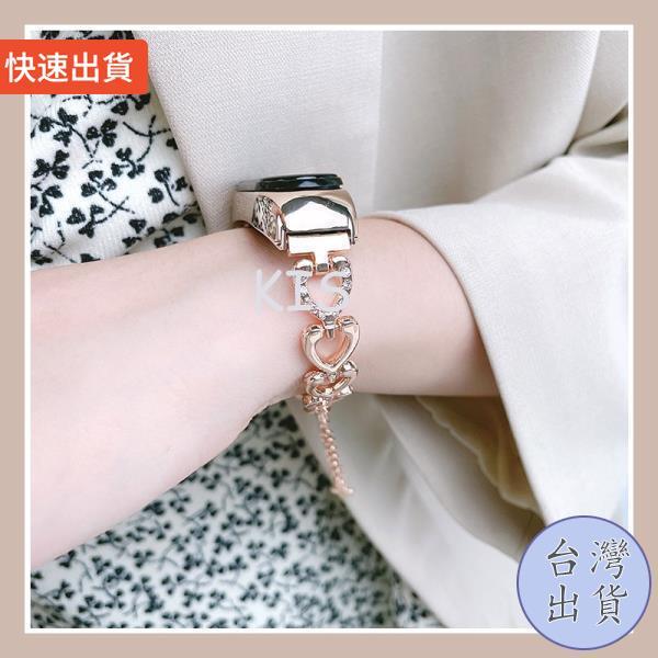 KIS 特價下殺小米手環6 小米手環5 心型手鍊 愛心手鍊 金屬錶帶 小米手環4 小米手環3 小米6 小米5 小米4 小