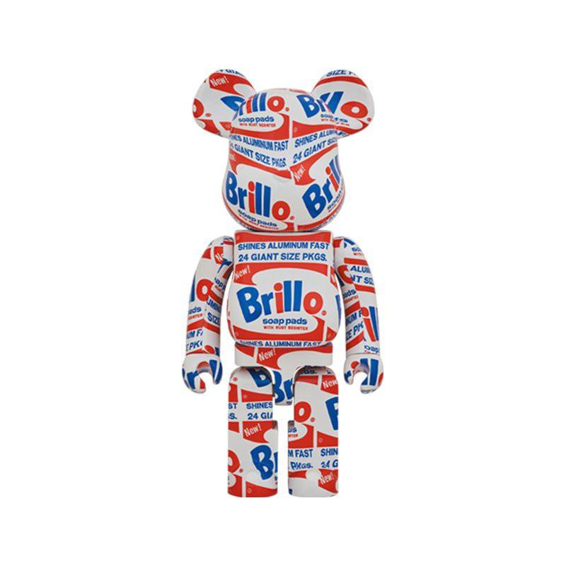 bearbrick暴力熊安迪沃霍爾Brillo正版1000%積木熊潮玩大型擺件具 8Vya