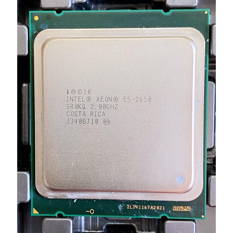 Intel® Xeon 處理器 E5-2650 20M 快取記憶體2.00 GHz 原裝2手良品