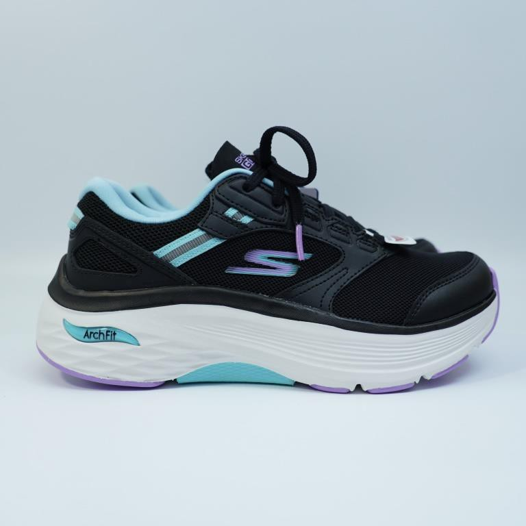 SKECHERS MAX CUSHIONING ARCH FIT 女生款 慢跑鞋 128301BKAQ 健走鞋 運動鞋