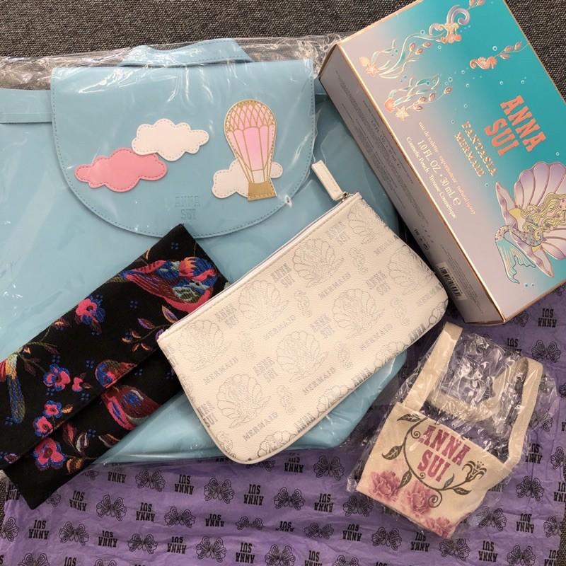 「現貨」ANNA SUI 萬用包/化妝包/刷具包美人魚童話禮盒手拿包歡樂派對晚宴包飲料杯套