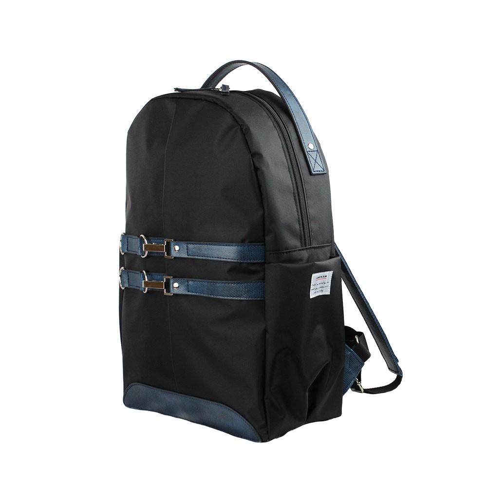 AMINAH 蜥蜴藍-輕騎後背包【am-0305】