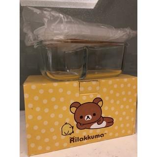 全新 Rilakkuma拉拉熊玻璃分隔保鮮盒830ml 新北市