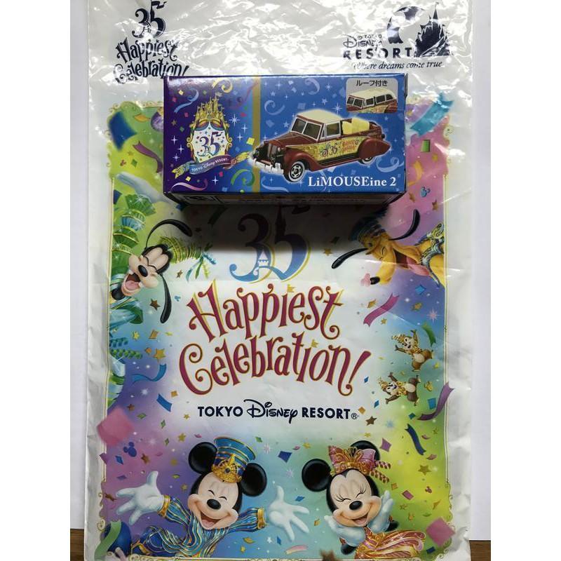 【Disney】日本東京迪士尼樂園 35周年 TOMICA 多美小汽車 紅色復古敞篷跑車 樂園限定版 全新品 蝦皮最便宜