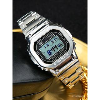 卡西歐金磚g-shock金屬小方塊手錶太陽能電波錶GMW-B5000GD-9 RwpU 屏東縣