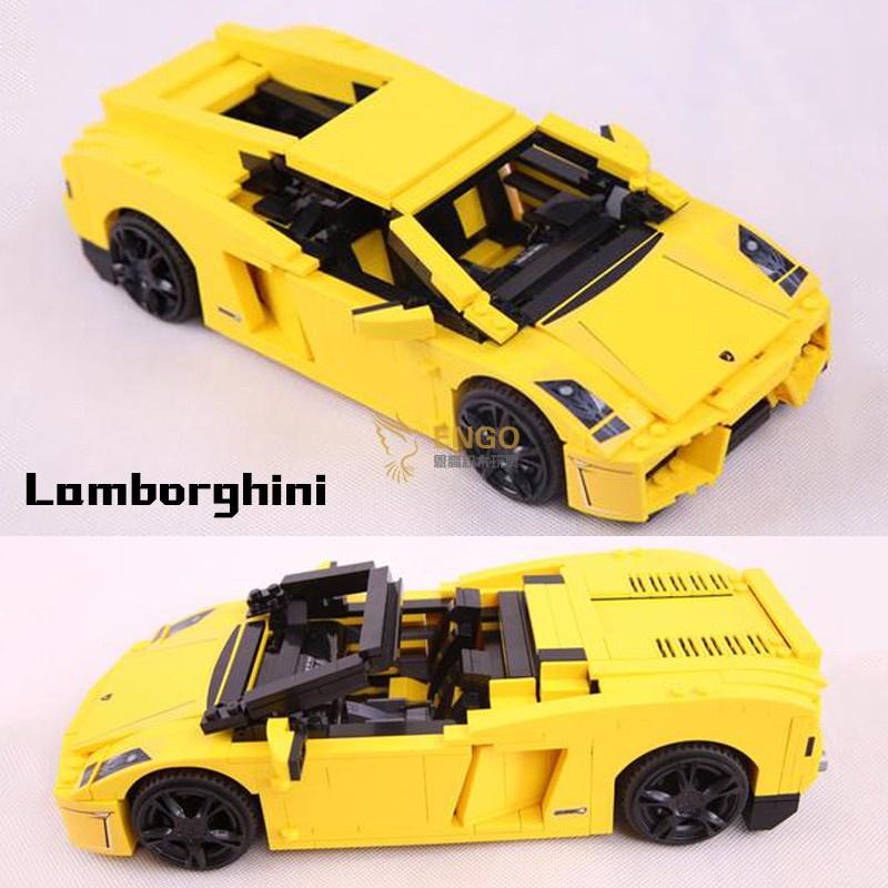 台灣現貨樂高蘭博基尼敞篷跑車超跑汽車成人拼裝積木模型男孩玩具8169