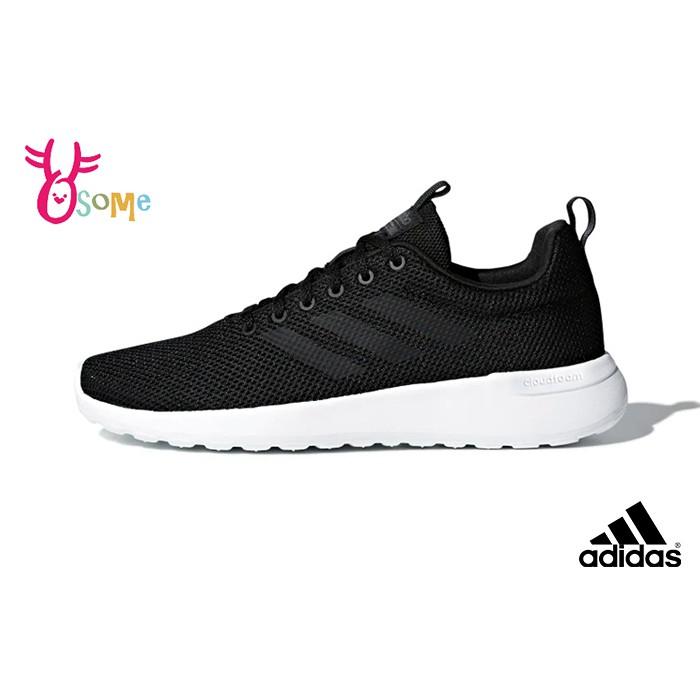 adidas男鞋 跑步鞋LITE RACER CLN 運動鞋 透氣輕量慢跑鞋 軟底 Q9390 黑白 OSOME奧森鞋業