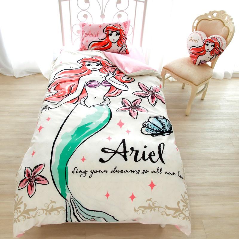 日本代購 迪士尼 disney 愛麗絲 灰姑娘 貝兒 長髮公主 小美人魚 白雪公主 單人床包 三件組 床單 枕頭套