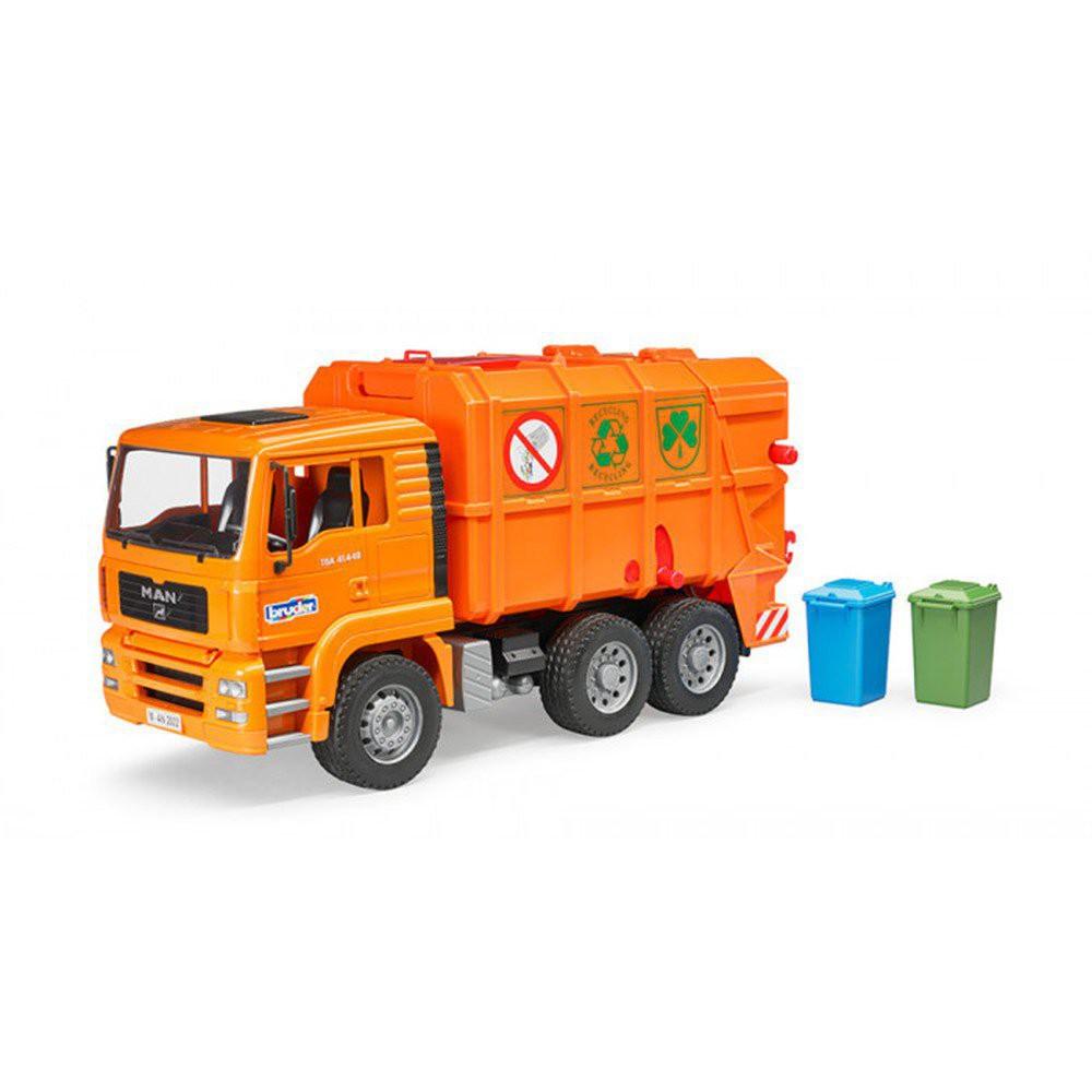 BRUDER 1:16 橘垃圾車 FWEr