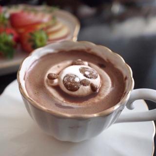 韓國 MITTE 漂浮熊貓 造型棉花糖 可可粉 熱巧克力 韓國零食 高雄市