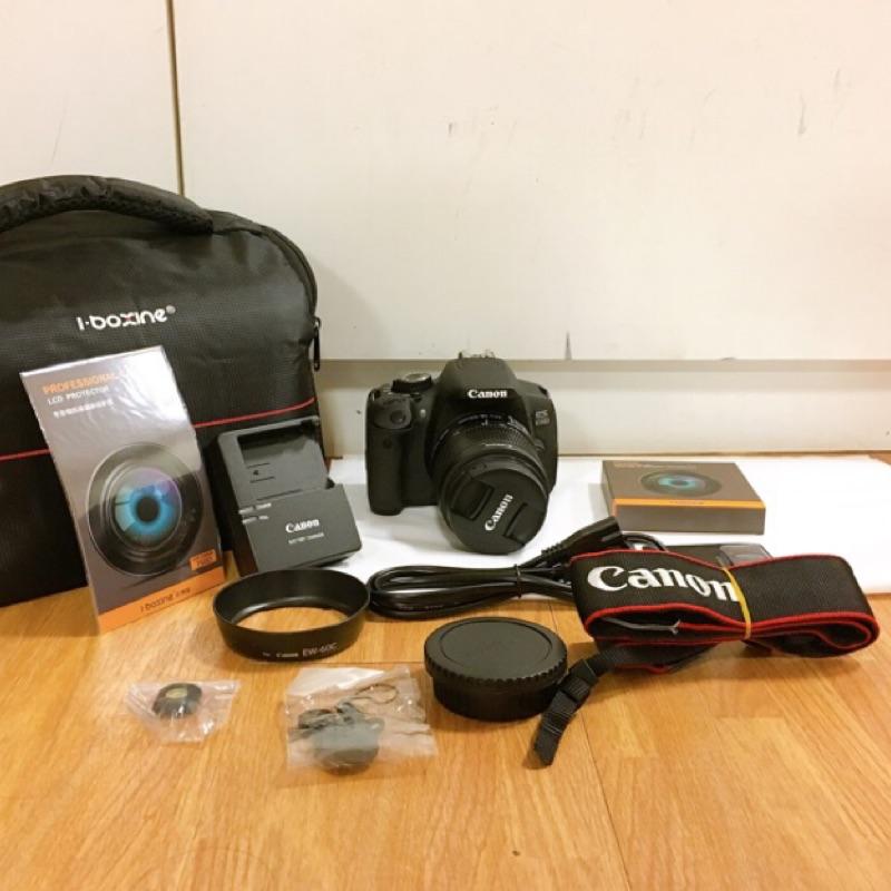 (可教學 零負評) Canon 650D+18-55mm 鏡頭 全套配件 二手