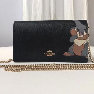 安安代購coach 69195 Disney系列湯姆貓真皮包包 女式鏈條包 側背包肩背包 小方包 斜背包 時尚百搭