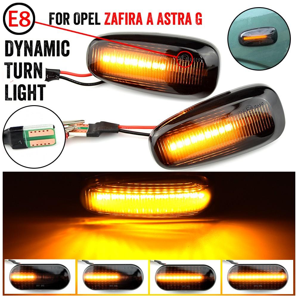 2 個用於 Zafira 的 Opel 的動態 LED 側標記流轉向信號側中繼器燈順序閃爍器, 用於 Astra G 9