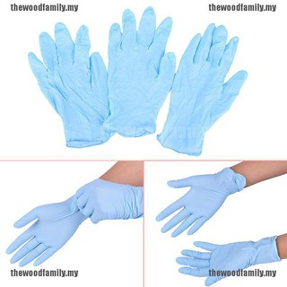 [THE] BBS 5對一次性藍色腈手套醫用紋身清潔用品