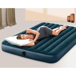 【一露遊你】買床送枕 INTEX 64734 雙人植絨充氣床 露營氣墊床 居家或飯店加床 休閒床墊 睡墊 152公分 宜蘭縣