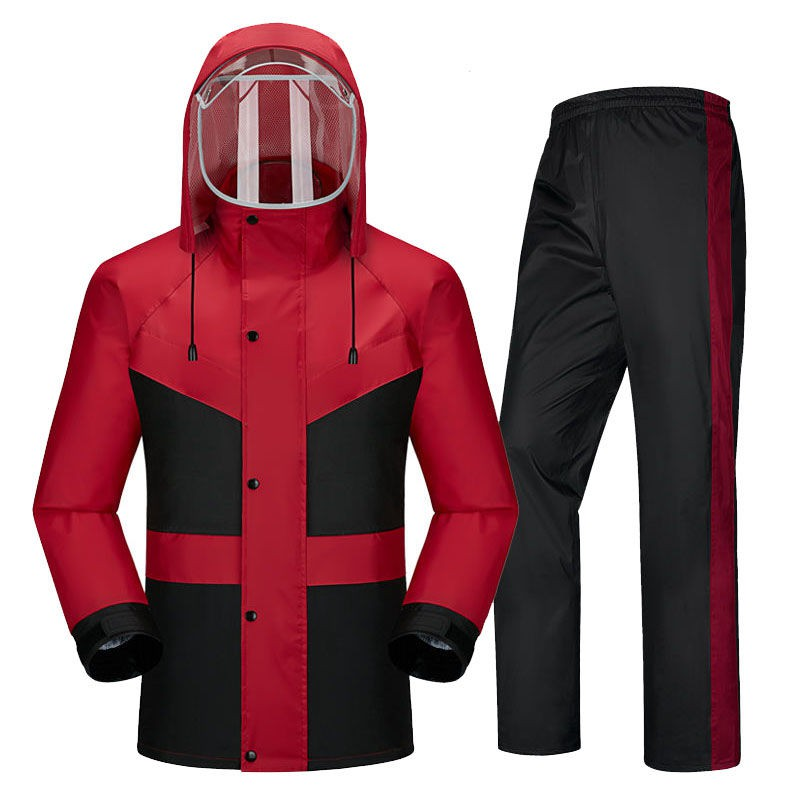 新款上架 活動大促銷 成人體雨衣套裝 騎行雨衣雨褲分體雨衣套裝摩托車電動車防水防風環衛外賣成人雨衣