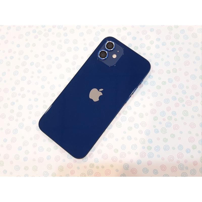 「現貨」售二手iphone 12 128g藍色 健康度91% 保固內 有盒配 外觀漂亮 台中可面交