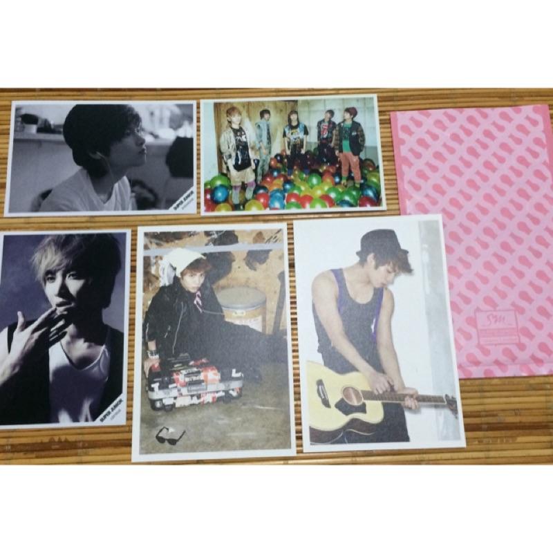 SM官方周邊寫真照片 鐘鉉 利特 厲旭 SHINee複製簽名卡片