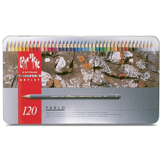 瑞士卡達 CARAN D'ACHE PABLO 666.420 專家級油性色鉛筆 120色鐵盒裝
