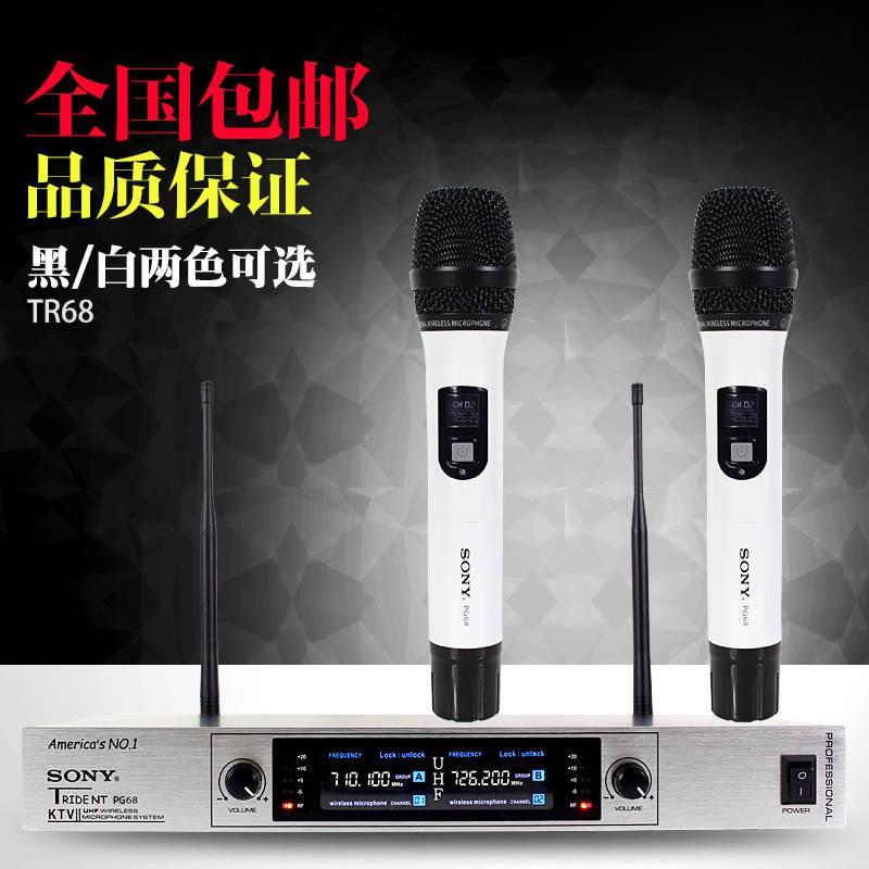 索尼無線話筒一拖二家用唱歌KTV專用U段舞臺專業戶外卡拉OK麥克風