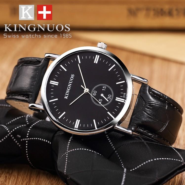 【現貨免運!】⌚ 時尚條丁刻度石英非機械皮帶防水手錶休閒男女學生皮帶手錶