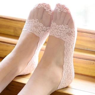 免運大珍家 蕾絲船襪女花邊短襪夏薄款棉底襪子女韓版硅膠隱形防滑襪