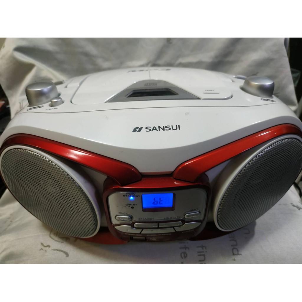 品味美型 SANSUI山水藍牙手提CD/MP3/USB手提音響 USB故障 其餘CD AUX 藍芽 廣播所有功能正常