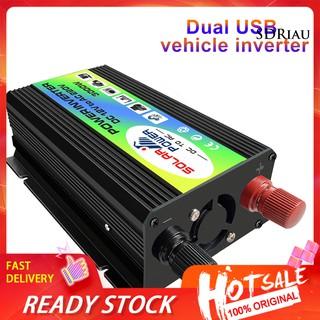 Qcdz _ 3000w Dc 12v 至 Ac 220v 雙 Usb 轉換器充電器適配器汽車電源逆變器